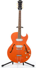 Musical Instruments:Electric Guitars, 1995 Epiphone Sorrento Orange Semi-Hollow Body Electric Guitar#R95A3370....