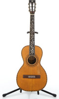 Musical Instruments:Acoustic Guitars, 1900's Washburn Parlor Natural Acoustic Guitar #17421....