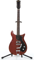 Musical Instruments:Electric Guitars, 1961 Gretsch Corvette Cherry Solid Body Electric Guitar #44859....