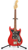 Musical Instruments:Electric Guitars, Vintage Hagstrom III Red Solid Body Electric Guitar #608165....