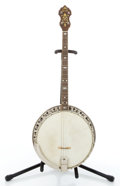 Musical Instruments:Banjos, Mandolins, & Ukes, Circa 1936 Bacon & Day Sunburst Tenor Banjo #26028....
