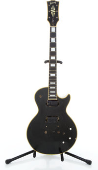 Late 1960's Gibson Les Paul Project Black Solid Body Electric Guitar #618400