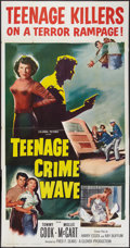 "Movie Posters:Exploitation, Teenage Crime Wave (Columbia, 1955). Three Sheet (41"" X 81"").Exploitation.. ..."