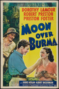 "Movie Posters:Adventure, Moon Over Burma (Paramount, 1940). One Sheet (27"" X 41""). Adventure.. ..."