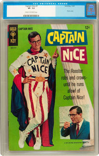 Captain Nice #1 (Gold Key, 1967) CGC VF- 7.5 Cream to off-white pages