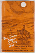 Books:First Editions, Wilson M. Hudson and Allen Maxwell [editors]. The Sunny Slopesof Long Ago. Dallas: Southern Methodist Universit...