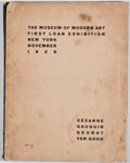 Books:First Editions, The Museum of Modern Art First Loan Exhibition. New York:[Museum of Modern Art], 1929. First edition, limited to 3000...