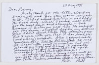 William Styron. Two Autograph Letters Signed, Written to Barnaby Conrad. Two letters from Styron to friend, fellow au