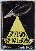 "Books:First Editions, Edward E. ""Doc"" Smith. Skylark of Valeron. Reading: FantasyPress, 1949. First edition. Octavo. Publisher's binding ..."