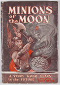 Books:First Editions, William Gray Beyer. Minions of the Moon. New York: GnomePress, [1950]. First edition. Octavo. Publisher's binding a...