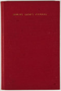 Books:Non-fiction, Samuel Lane. A Journal for the Years 1739-1803. Concord: New Hampshire Historical Society, 1937. Octavo. Publish...