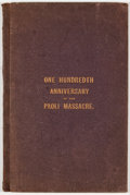 Books:First Editions, Proceedings On the Occasion of the Dedication of the Monument onthe One Hundredth Anniversary of the Paoli Massacre, in Che...