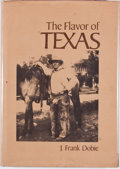 Books:First Editions, J. Frank Dobie. The Flavor of Texas. Austin: JenkinsPublishing, 1975. First edition. Quarto. Publisher's binding an...