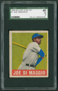 Baseball Cards:Singles (1940-1949), 1948 Leaf Joe DiMaggio #1 SGC 40 VG 3....