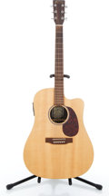 Musical Instruments:Acoustic Guitars, 2005 Martin DCX1RE Natural Acoustic Electric Guitar #1100127....