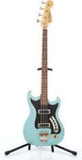 Musical Instruments:Bass Guitars, Vintage Hagstrom Sky Blue Electric Bass Guitar #609470....