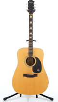Musical Instruments:Acoustic Guitars, 1970's Epiphone FT-550 Excellente Natural Acoustic Guitar #N/A....