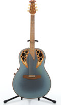 Musical Instruments:Acoustic Guitars, Adams 2009 Blue Acoustic Electric Guitar #1618-8....
