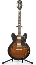 Musical Instruments:Electric Guitars, 1995 Epiphone Sheraton Sunburst Semi-Hollow Body Electric Guitar#S5066144....