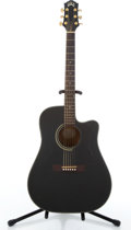 Musical Instruments:Acoustic Guitars, 1995 Guild DC-1E Black Acoustic Electric Guitar #AD112318....