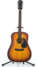 Musical Instruments:Acoustic Guitars, 1970's Epiphone FT 145 Texan Natural Acoustic Guitar #09780637....