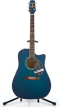 Musical Instruments:Acoustic Guitars, Jasmine By Takamine TS50C-MB Blue Acoustic Electric Guitar#146861....