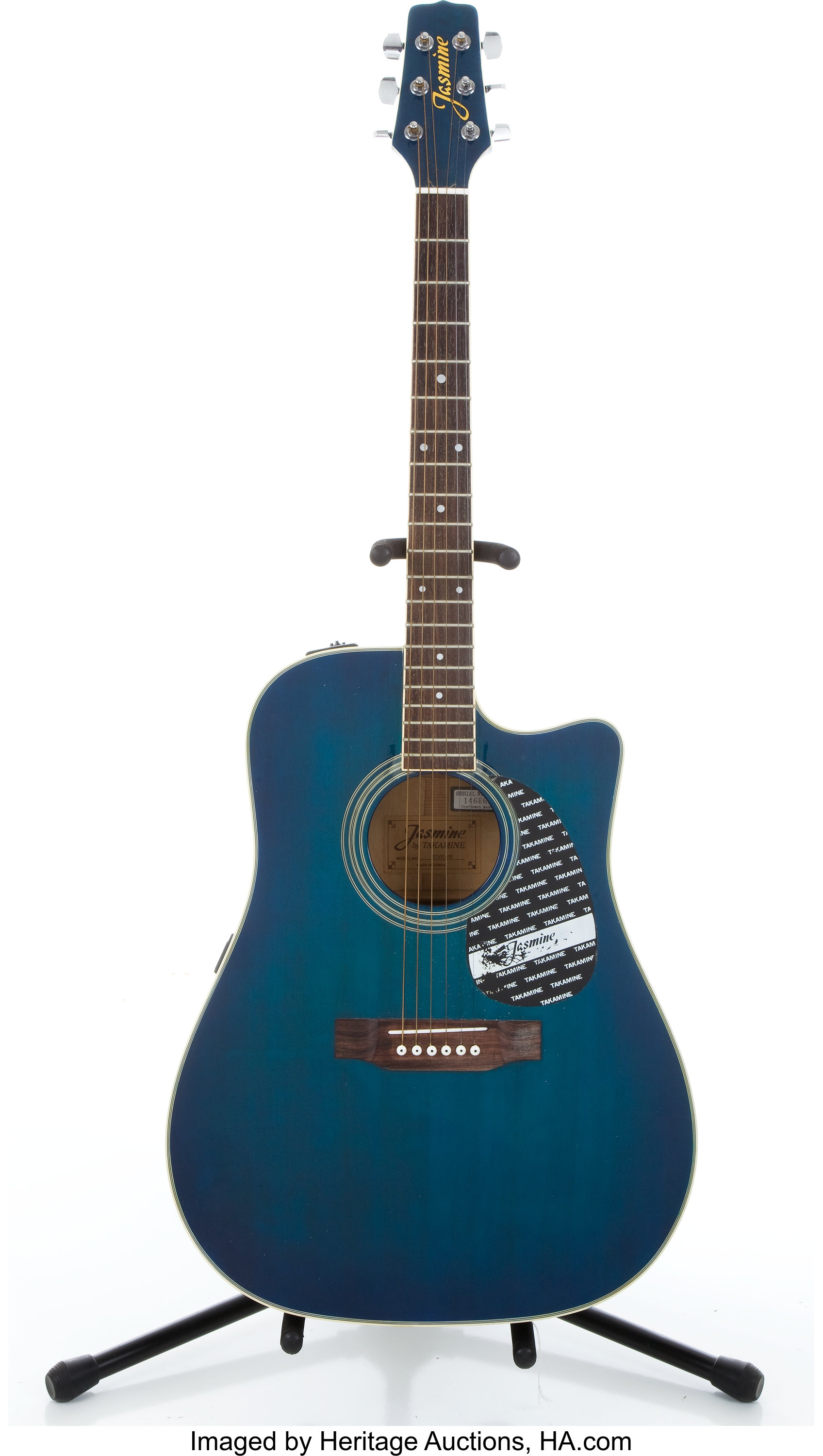 jasmine by takamine ts50c mb blue acoustic electric guitar lot 83128 heritage auctions. Black Bedroom Furniture Sets. Home Design Ideas