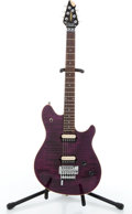 Musical Instruments:Electric Guitars, Modern Peavey EVH Wolfgang Floyd Rose Purple Solid Body ElectricGuitar #91027817....