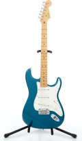 Musical Instruments:Electric Guitars, 2001 Fender American Stratocaster Caribbean Mist Electric Guitar,Serial # Z0133409...