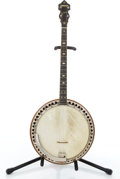 Musical Instruments:Banjos, Mandolins, & Ukes, 1930's Ludwig Kingston Walnut Tenor Banjo #N/A....