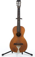 Musical Instruments:Acoustic Guitars, Vintage Washburn Parlor Natural Acoustic Guitar #288847....