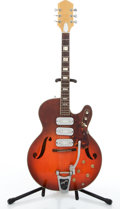 Musical Instruments:Electric Guitars, 1964 Silvertone F-66 Cherry Semi-Hollow Body Electric Guitar#N/A...