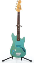 Musical Instruments:Bass Guitars, 1973 Fender Musicmaster Daphne Blue Project Bass Guitar, Serial # 371690...