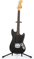 Musical Instruments:Electric Guitars, 1979 Fender Mustang Black Solid Body Electric Guitar #S826698....