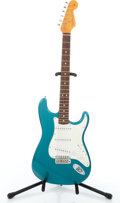 Musical Instruments:Electric Guitars, 1996 Fender Stratocaster 50th Anniversary Green Solid Body ElectricGuitar #V094304....