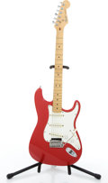 Musical Instruments:Electric Guitars, 1984-88 Fender Stratocaster Red Solid Body Electric Guitar#E462512....