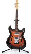 Musical Instruments:Electric Guitars, 1965 Baldwin Vibrasilm Sunburst Semi-Hollow Body Electric Guitar#18314....
