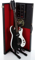 Musical Instruments:Electric Guitars, 1960s 1448 Black Amp-In-Case Electric Guitar...