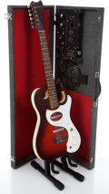 Musical Instruments:Electric Guitars, 1960s Silvertone 1457 Sparkle Red Amp-In-Case Electric Guitar...