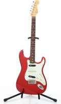 Musical Instruments:Electric Guitars, 1986 Fender Stratocaster Red Solid Body Electric Guitar#A033266....