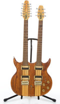 Musical Instruments:Electric Guitars, Cort Double Neck Natural Semi-Hollow Body Electric Guitar#WO21283....