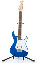 Musical Instruments:Electric Guitars, Modern Yamaha Pacifica 012 Blue Solid Body Electric Guitar#0J163144...