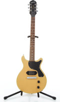 Musical Instruments:Electric Guitars, 1997 Epiphone Junior Blonde Solid Body Electric Guitar#J97080889....