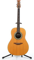 Musical Instruments:Acoustic Guitars, Ovation 1121-4 Balladeer Natural Acoustic Guitar #N/A....