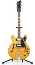 Musical Instruments:Electric Guitars, 1970's Univox 12 String Natural Semi-Hollow Body Electric Guitar#2114475....