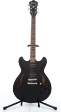 Musical Instruments:Electric Guitars, Modern Ibanez AS73B Matte Black Semi-Hollow Body Electric Guitar#S09050553....