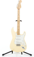 Musical Instruments:Electric Guitars, 1996 Fender Stratocaster Yellow Solid Body Electric Guitar#MN555139....