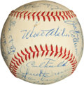 Autographs:Baseballs, 1958 Los Angeles Dodgers Team Signed Baseball....
