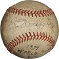 Autographs:Baseballs, 1939 World Series Game Used Baseball Signed by Joe DiMaggio....