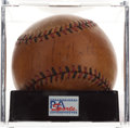 Autographs:Baseballs, Early 1930's Babe Ruth Single Signed Baseball, PSA/DNA VG+ 3.5....